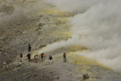 Vulkaan in Italië (Sicilië) Royalty-vrije Stock Afbeeldingen