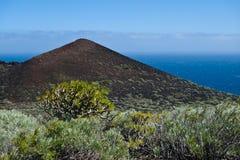 Vulkaan op het eiland van La Palma Royalty-vrije Stock Foto's
