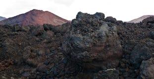 Vulkaan op Lanzarote Stock Foto's