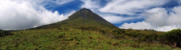 Vulkaan Pico, de Azoren - Panorama Royalty-vrije Stock Afbeelding