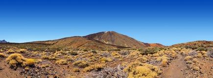 Vulkaan Teide in het eiland van Tenerife - Kanarie Royalty-vrije Stock Foto's