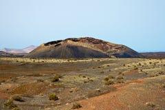 Vulkaan in Timanfaya, Lanzarote Royalty-vrije Stock Afbeelding