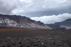 Vulkaan van VolcanoEast Maui van het Haleakalā de Massieve Schild stock fotografie