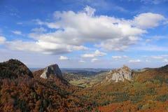 Vulkaanlandschap in puy-DE-koepel Auvergne Frankrijk royalty-vrije stock afbeeldingen