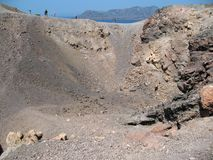 Vulkaanrots en lava Stock Afbeelding