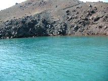 Vulkaanrots en lava Royalty-vrije Stock Afbeeldingen