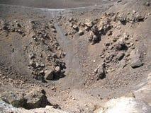 Vulkaanrots en lava Royalty-vrije Stock Fotografie