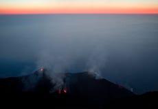 Vulkaanuitbarsting Royalty-vrije Stock Fotografie