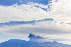 Vulkaanuitbarsting in Japan Stock Foto