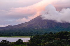 Vulkan av Arenal royaltyfri bild