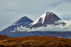 Vulkan av Kamchatka, Ryssland arkivbilder