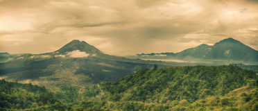 Vulkan Batur Royaltyfri Foto
