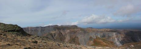 Vulkan Baytoushan i Changbaishan. Kina. Arkivbild