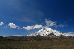 Vulkan Chimborazo (6310 m) Stockfotografie