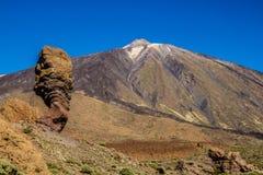 Vulkan EL Teide und Lava Formation-Tenerife, Spanien Lizenzfreie Stockfotos