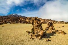 Vulkan EL Teide und Lava Formation-Tenerife, Spanien Stockfoto