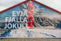 Vulkan Eyjafjallajokull Island stockfoto