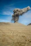 vulkan för askabromoberg Arkivbild