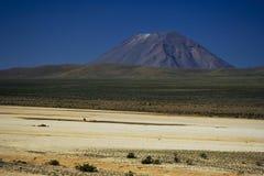 Vulkan för El Misti Arkivbilder