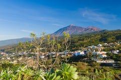 Vulkan för El Teide från Mirador Lomo Molino Royaltyfri Fotografi
