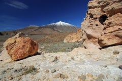 Vulkan för El Teide, Tenerife, kanariefågelöar Arkivbilder
