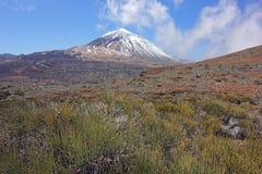 Vulkan för El Teide, Tenerife, kanariefågelöar Arkivfoton
