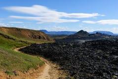 vulkan för iceland kraflalava Fotografering för Bildbyråer
