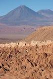 vulkan för licancabur för atacamachile öken Arkivfoto