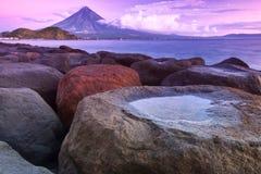 Vulkan för Mt. Mayon Arkivbilder