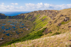 vulkan för rano för chile easter ökau Fotografering för Bildbyråer