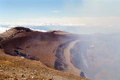 vulkan för visning för chile klättrarekrater Arkivbilder