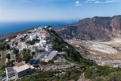 Vulkan in Griechenland Stockfotografie