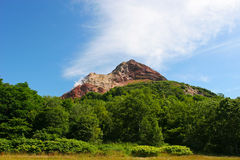 Vulkan i Hokkaido Japan Arkivbild