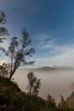 Vulkan Indonesien stockbilder