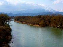 Vulkan Mt Iwake, Japan Lizenzfreies Stockbild