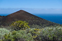 Vulkan på den LaPalma ön Royaltyfria Foton