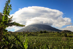 Vulkan på den Ometepe ön, Nicaragua Arkivfoton