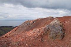 Vulkan på Vestmannaeyjar Royaltyfri Fotografi