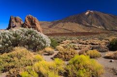 Vulkan Pico del Teide, Tenerife Royaltyfria Foton