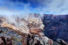 Vulkan Pitonde la Fournaise Lizenzfreies Stockfoto