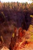 Vulkan-Schlucht stockfotografie