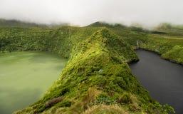Vulkan sjöar på Flores Royaltyfria Foton
