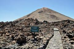 Vulkan Teide Arkivbild
