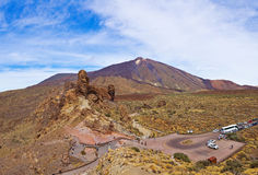 Vulkan Teide in der Tenerife-Insel - Kanarienvogel Lizenzfreie Stockfotografie