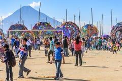 Vulkan u. riesige Drachen, der Allerheiligen, Guatemala Stockfotografie