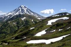 Vulkan und Berge von Kamchatka Stockfoto