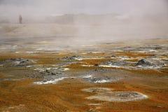 Vulkan und Geysir, Island Lizenzfreies Stockfoto