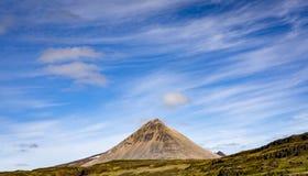 Vulkanberg på Island Royaltyfri Fotografi