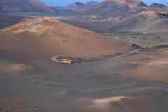 Vulkane auf Lanzarote, Kanarische Inseln Lizenzfreie Stockfotos