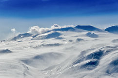 Vulkanen van het Schiereiland van Kamchatka, Rusland. Royalty-vrije Stock Afbeeldingen